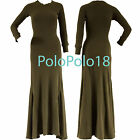 New $145 Polo Ralph Lauren Women Thermal Waffle Long Dress Olive XS S M