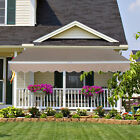 Outdoor 8'x7'/13'x8' Patio Awning Sun Shade Canopy Shelter Manual Retractable cheap