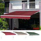 Outdoor 8'x7'/13'x8' Patio Awning Sun Shade Canopy Shelter Manual Retractable