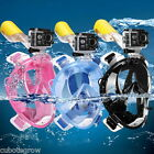 Full Face Snorkeling Mask Scuba Diving Swimming Snorkel Breather Pipe for Gopro