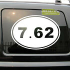 7.62 762 Gun Rights Laws Oval Car Decal Sticker AK47