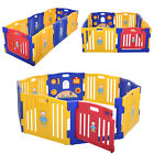 8/12 Panels Baby Playpen Kids Safety Fence Play Center PlayYard Kids Bbay pen