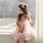 Lily Lace Dress, Kids Baby Girls Spring Summer Formal Dress for 2-7 Years