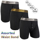 3 to 12 Pack Men's Classic Sports Rib Boxer Shorts Underwear Trunks