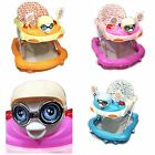 Baby Walker First Steps Activity Bouncer Musical Toy Push Along Pink Ride Face 1