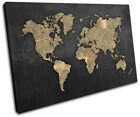 World Atlas Antique Vintage Maps Flags SINGLE CANVAS WALL ART Picture Print