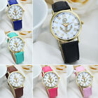 Fashion New Unisex Women Quartz Anchor Faux Leather Wristwatches
