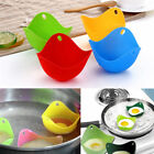 4 x Silicone Egg Poacher Cup Coloured Poaching Pod Mould Pan Poach Cooking