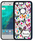 PERSONALIZED RUBBER CASE FOR GOOGLE PIXEL & PIXEL XL WILDLY COLORFUL BUTTERFLIES