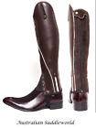 Xtreme Brown Leather and Suede Gaiters with Beige Piping & Reflective