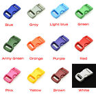 """3/8""""(10mm) Colorful Contoured Side Release Mini Buckles For Paracord Bracelet"""