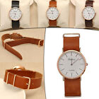 Casual Watches Men's Women's Quartz  Leather  Band Wrist Watch