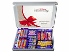 Anniversary Gift Personalised with your Message Chocolate or Retro Sweets Hamper