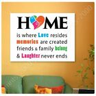 where to get photo paper - POSTER Or STICKER Decals Vinyl Home Is Where Love Resides Alonline DSN Posters
