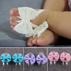 Внешний вид - Baby Girl Toddler Infant Lace Flower Shoes Sandals Ankle Band Foot Decoration