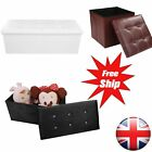 Leather Storage Ottoman Square Furniture Footrest Footstool Pouf Box Home Ottoma