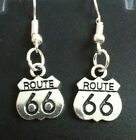 COOL X'Mas GIFT ROUTE 66 Road Earings Harley Davidson Lady Rider Motorcycle Club