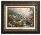 Thomas Kinkade Studios Mickey and Minnie Sweetheart Bridge 9 x 12 Framed Classic