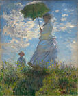 Woman with Parasol by Monet (French art print)
