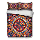 Oriental Doona/Quilt/Duvet/Cover Set Queen/Single/King All Bed Size Mandala Set