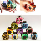 Retro Camo Pattern Fidget Cube Stress Relieves For Adults Children Desk Spin Toy