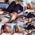 Women Girl Warm Winter Braided Thigh High Over Knees Long Stockings Tights Socks