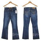 NWT SEVEN 7 Women's Boot Cut Denim Bling Pocket Giza Blue Jeans Pants MSRP $69