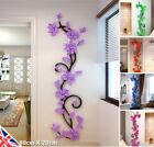 Acrylic 3d Rose Flowers Wall Stickers Decal Living Room Bedroom Home Decor UK