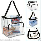 Clear Lunch Bag Medium Large Extra Large Food Storage Bags w/ Adjustable Straps