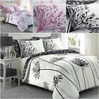 BEAUTIFUL MEADOW DESIGN PINK & GREY bed Set Duvet Cover with Pillowcases 2 SIZES