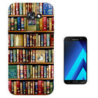 004 Library Books Shelves Case Gel Cover For ipod iphone LG HTC Samsung S8