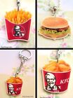 FAST FOOD NECKLACE OR KEYRING BURGER FRIES FRIED CHICKEN