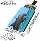 Beautiful Dolphin Swimming Flip Oceon Sea - Universal Leather Phone Case Cover