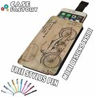 Old Retro Motor bike Drawing Plans Vintage - Universal Leather Phone Case Cover