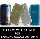 New CLEAR VIEW FLIP Cover Case For Samsung Galaxy A5 (2017)