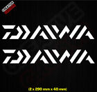 ** DAIWA ** 2 Sticker Pack - Sign Decal Fishing Rod Tackle Box 290mm X 40mm