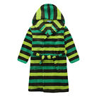 New Pyjamas Boys Fleece Dressing Gown Robe (Sz 8-14) Green Stripes (791)