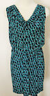 BANANA REPUBLIC Women's Navy Chainlink Print Sleeveless Dress Sizes XS-S