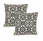 "18"" Geometric Cotton Linen Throw Pillow Case Cushion Cover Doration Set of 2 image"