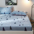 100%Cotton Dots Fitted Sheet Bed Pillowcases Flat Sheet Single/Queen/King Size