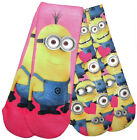 Girs Two Pack Minion Tube Socks  9-12 12.5-3.5 4-6.5 Two Different Pictures