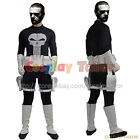 The Punisher Frank Castle Cosplay Costume Halloween Party Uniform Jumpsuit Cool
