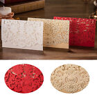 10Pcs Personalised Laser Cut Wedding Evening #S Invitations Free Envelopes Seals