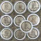 10 pieces 1916 China Yuan Shikai COMMEMORATING OF THE REPUBLIC SILVE Coins