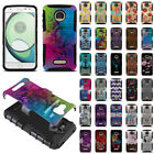 google play rolling stones - For Motorola Moto Z Play Droid XT1635 Hybrid KICKSTAND Silicone Case Cover