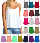 New Women's Ladies Plain Sleeveless Strappy Swing Vest Cami Casual Tank Top 8-26