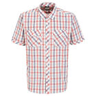 Trespass Hopedale Mens Short Sleeve Button Casual Summer Cotton Check Shirt
