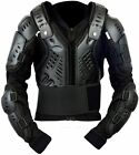 Motocross Motorbike Body Armour Motorcycle Spine Protection Guard Jacket Black