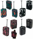 WHEELED BACKPACK HAND LUGGAGE TROLLEY BAG CABIN SUITCASE HOLDALL 55x35x20cm