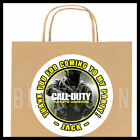 Call of Duty Infinite Warfare Birthday Party Bag STICKERS Personalized Labels